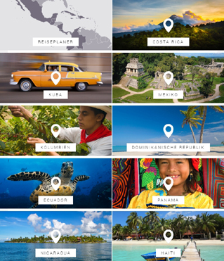 Website von Latin America Tours